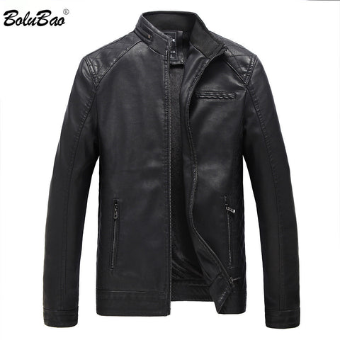 BOLUBAO Brand Motorcycle Leather Suede Jackets Men Autumn and Winter Leather Clothing Men Leather Jackets Male Casual Coats - Cozzoo