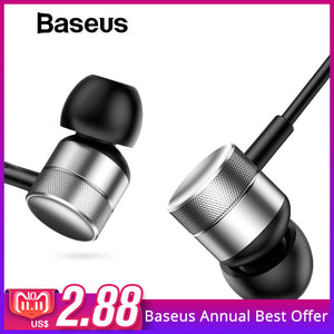 Baseus H04 Bass Sound Earphone In-Ear Sport Earphones with mic for xiaomi iPhone Samsung Headset fone de ouvido auriculares MP3 - Cozzoo