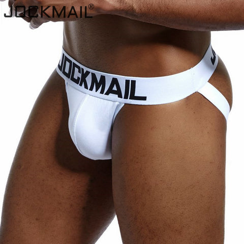 Brand Sexy Mens Underwear Jockstraps Cotton Sexy Jocks Bikini G-strings Men thong cuecas Male panties Briefs Gay underwear Penis