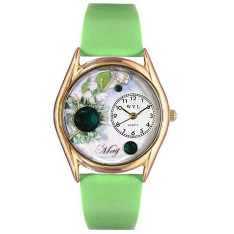 Birthstone Jewelry: May Birthstone Watch Small Gold Style - Cozzoo