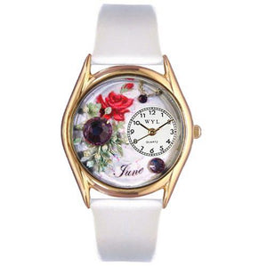 Birthstone Jewelry: June Birthstone Watch Small Gold Style - Cozzoo