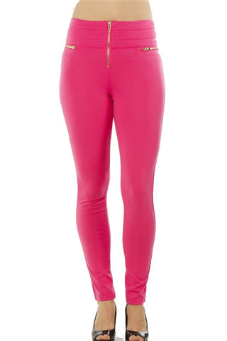 Ladies fashion stretch cotton blend leggings - Cozzoo
