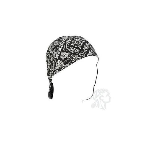 Welders Cap, Cotton, Black Paisley, Size 7.5 - Cozzoo