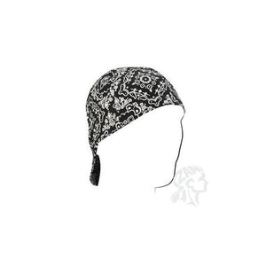 Welders Cap, Cotton, Black Paisley, Size 7.25 - Cozzoo