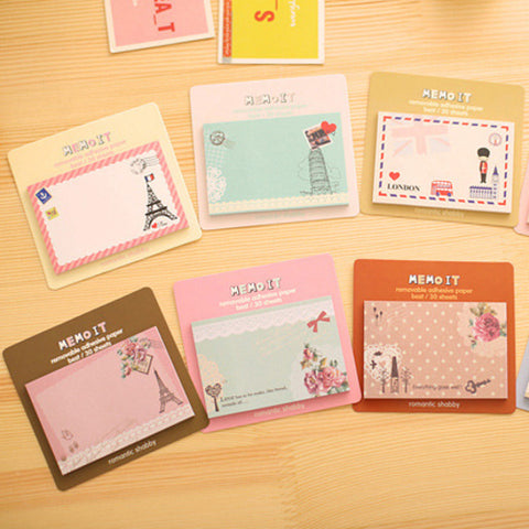 Cute European American style Memo pad sticky post - Cozzoo