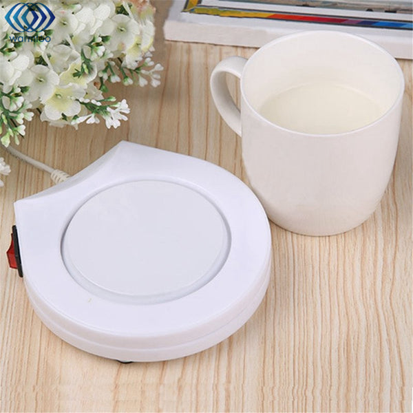 Electric Powered Cup Warmer Heater Pad 220V Hot Plate Coffee Tea Milk Mug US Plug White Household Office - Cozzoo