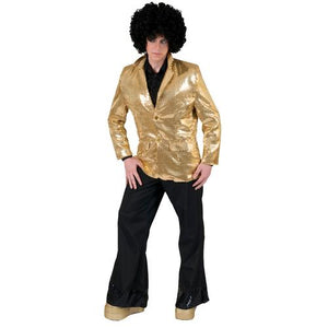 DISCO JACKET GOLD ADULT STD - Cozzoo