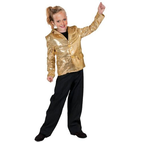 DISCO JACKET GOLD CHILD SMALL - Cozzoo