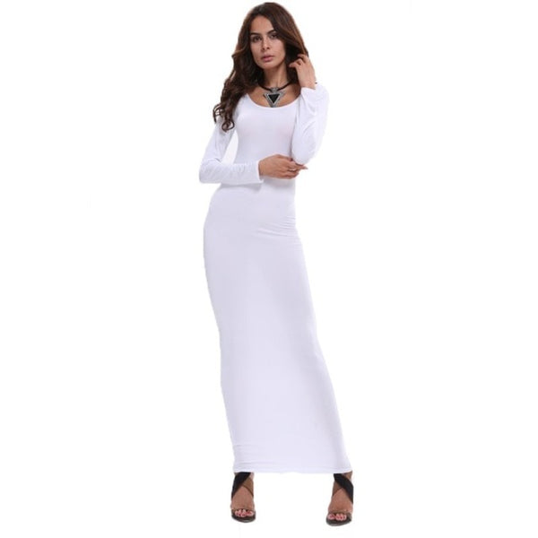 Fashion Women s Stretch Bodycon Slim Long Dress Long Sleeve Maxi Dresses  Clubwear Hot PY3 - Cozzoo 85f06c789de4