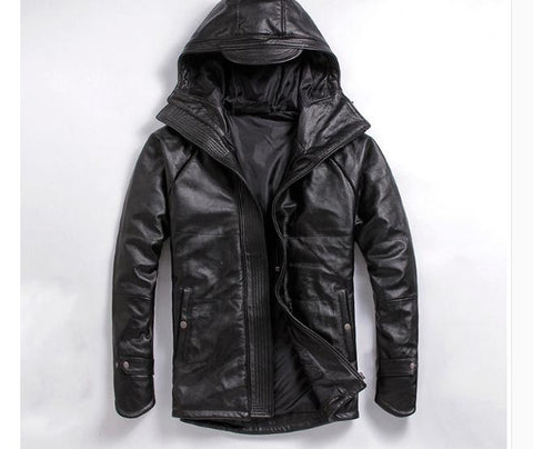 Free shipping,EMS top genuine leather jacket,winter thicker warm coat.motorcycle plus size clothing.man cowhide jackets,sales