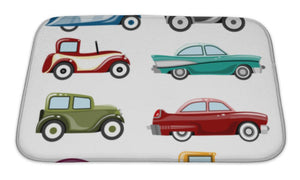 Bath Mat, Old Cars - Cozzoo