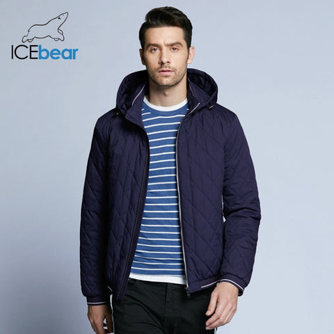 ICEbear 2018 new autumn men's cotton classic quilted design coats hat detachable fashion man jacket BMWC18032D