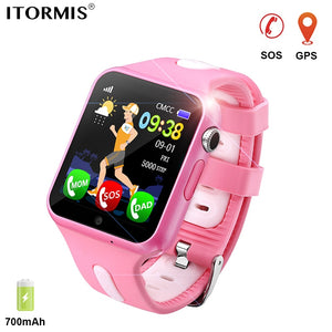 ITORMIS Kids GPS Tracking Smart Watch Smart Baby Watch Phone Smartwatch for Children Location Waterproof Touch Screen PK Q50 Q90 - Cozzoo