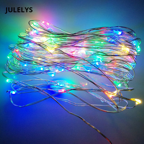 JULELYS 3M 30M USB Garland Copper Wire String Lights Christmas LED lights Decoration For Bedroom Holiday Party Birthday Decor