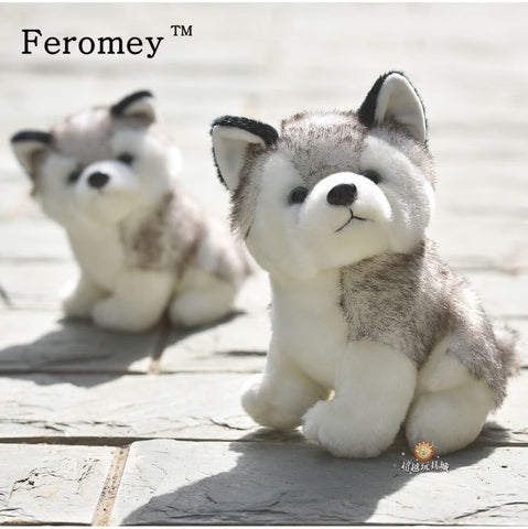 Kawaii Puppy Stuffed Toys 10/20cm Cute Simulation Husky Dog Plush Toys Stuffed Doll Kids Baby Toys Plush Husky Dolls