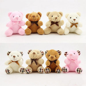 Kids Toys Stuffed Animals Fluffy Bear 8CM Popobe Teddy Bear Cute Plush Toys Bag Keychain Car Key Holder for Pendant Doll B0750