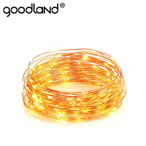 LED String Fairy Light 1-10M Garland CR2032 AA Battery Powered Copper Wire Waterproof Gerlyanda for Outdoor Christmas Decoration