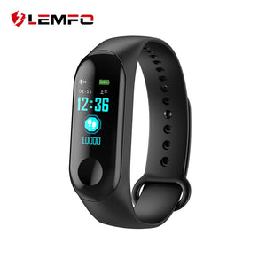 LEMFO M3 Plus Color IPS Screen Smart Sport Fitness Bracelet IP68 Waterproof Blood Pressure Oxygen Activity Tracker For Men Women - Cozzoo