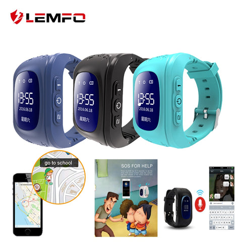 LEMFO Q50 SOS Call Location Finder Anti lost support sim card GPS smart baby watch for children Call Finder Locator - Cozzoo