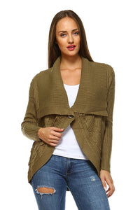Women's Textured Open Front Cardigan - Cozzoo
