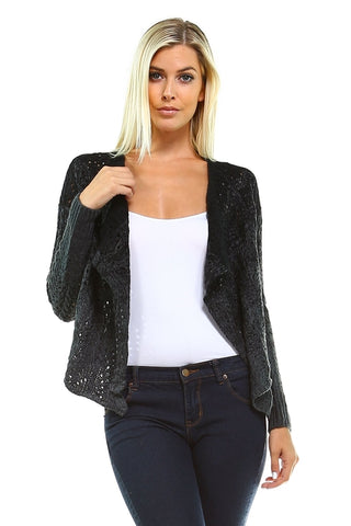 Women's Open Knit Cardigan - Cozzoo