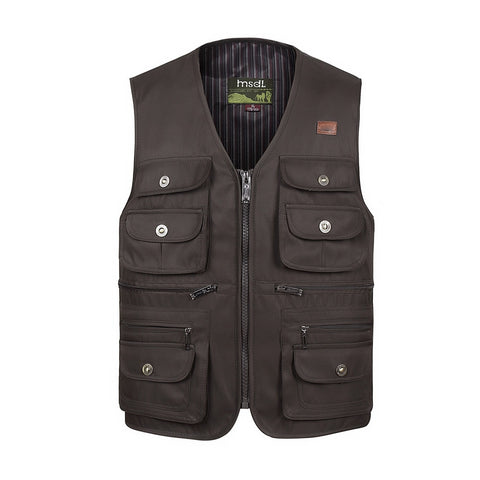 Men Large Size XL-4XL Motorcycle Casual Vest Male Multi-Pocket Tactical Fashion Waistcoats High Quality Masculino Overalls vest