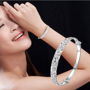 New Fashion Jewelry Silver Womens Bracelets Charm - Cozzoo