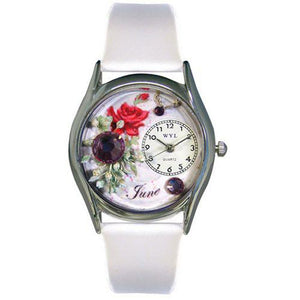 Birthstone Jewelry: June Birthstone Watch Small Silver Style - Cozzoo
