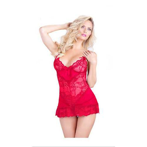 Cheap Sexy Mature Lingerie Babydoll Red - Cozzoo