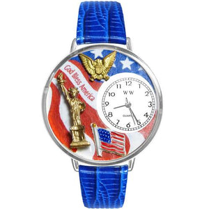 July 4th Patriotic Watch in Silver (Large) - Cozzoo