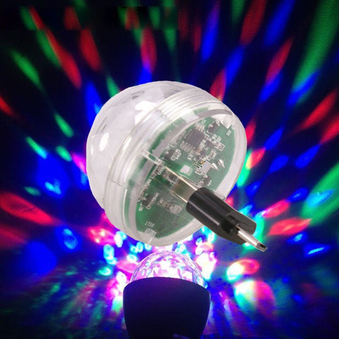 USB LED Stage Lamp  Mini Colorful Crystal RGB Lights for phone with OTG adapters for android mobile phones, for iphone