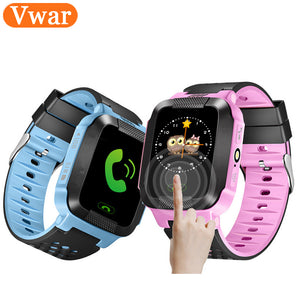 Vwar Q528 Y21 Smart Watch GPS Tracker Monitor SOS Call with Camera Lighting Baby Smartwatch for Kids Child PK Q750 Q100 Phone - Cozzoo
