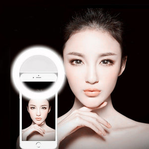 Z25 Ring LED Portable Light case Phone Light Beauty Selfie Ring Flash Fill light for iPhone 5 6 6s plus 7 7 plus Samsung s6 s7