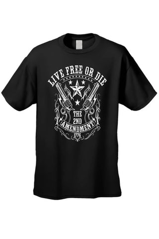 Men's/Unisex T Shirt Live Free or Die 2nd - Cozzoo