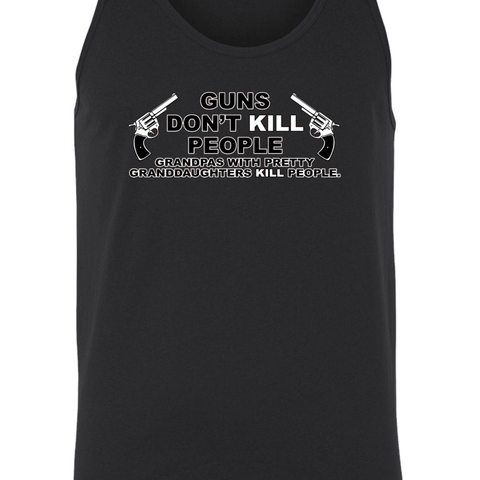 Men's Guns Don't Kill People pas w/ Pretty daughters Do Tank Top - Cozzoo