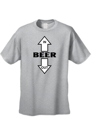 Men's/Unisex Beer Goes In, Beer Comes Out Short - Cozzoo