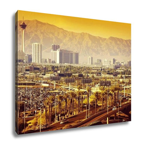 Gallery Wrapped Canvas, Las Vegas Nevada Cityscape - Cozzoo