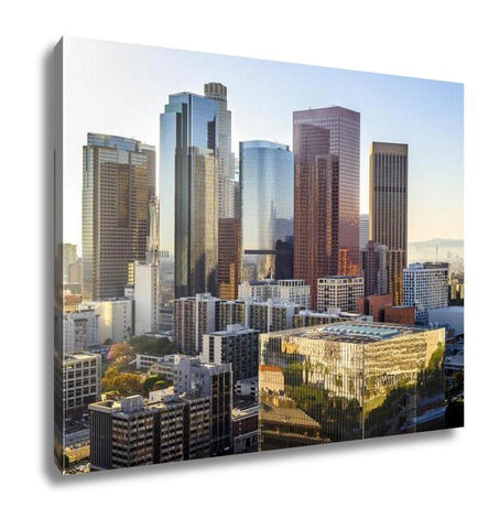 Gallery Wrapped Canvas, Downtown Skyline Los Angeles California USA - Cozzoo