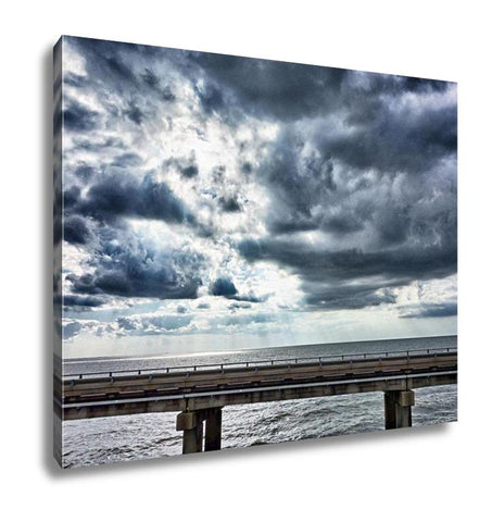 Gallery Wrapped Canvas, Driving Across Lake Pontchartrain Causeway Near New Orleans - Cozzoo