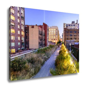 Gallery Wrapped Canvas, New York City USA On The High Line Park - Cozzoo