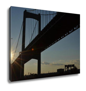 Gallery Wrapped Canvas, Walt Whitman Bridge In Philadephia Pa At Sunset - Cozzoo