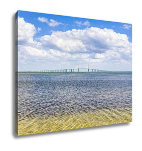Gallery Wrapped Canvas, Sunshine Skyway Bridge Over Tampa Bay - Cozzoo