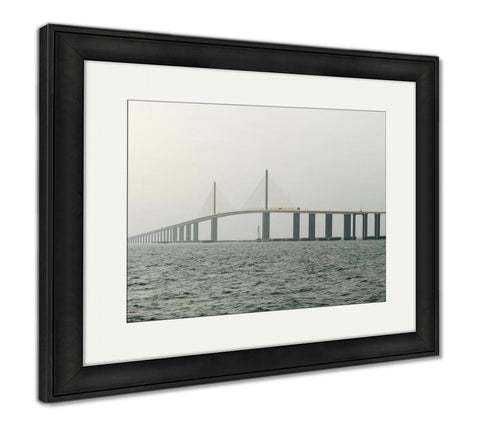 Framed Print, Sunshine Skyway Bridge Tampa Bay Florida - Cozzoo