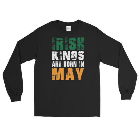Irish Kings Are Born In May - Long Sleeve T-Shirt - Cozzoo