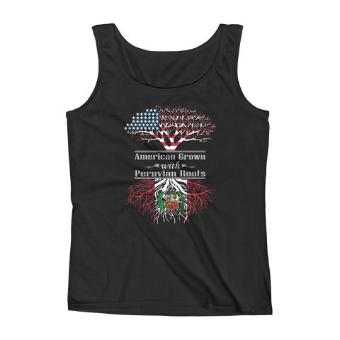 American Grown With Peruvian Roots - Ladies' Tank - Cozzoo