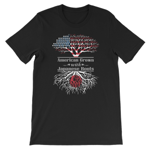 American Grown With Japanese Roots - Short-Sleeve Unisex T-Shirt - Cozzoo
