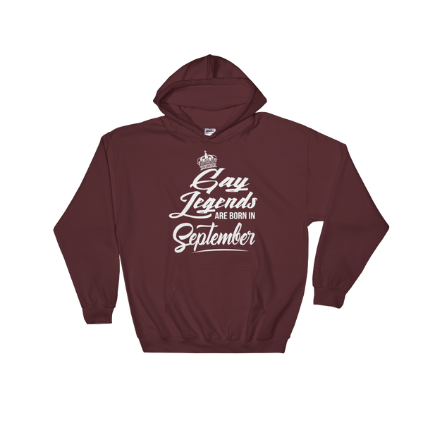 Gay Legends Are Born In September - Hoodie Sweatshirt Sweater - Cozzoo