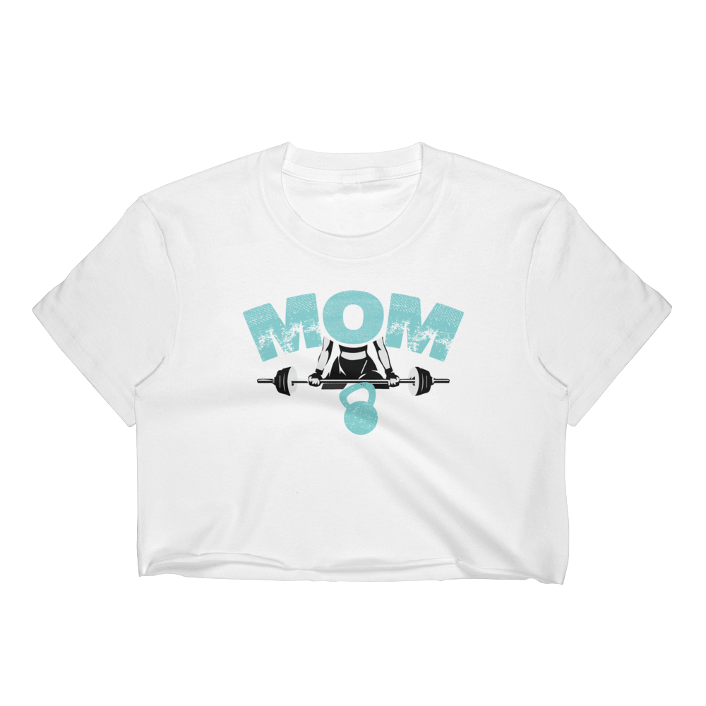 MOM Strong - Women's Crop Top - Cozzoo