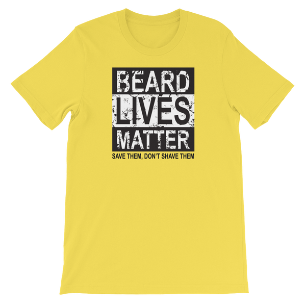 Beard Lives Matter Save Them, Don't Shave Them - Short-Sleeve Unisex T-Shirt - Cozzoo