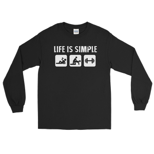 Life Is Simple - Fitness - Long Sleeve T-Shirt - Cozzoo